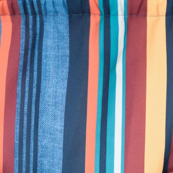 Estampado de raias verticais de cores de top Oímbra